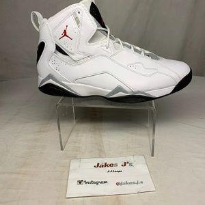 Jordan True Flight Black Cement White Gym Red
